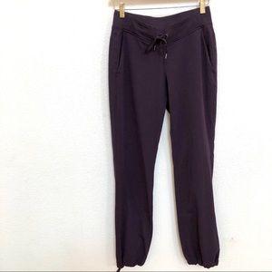 ATHLETA Jogger Pants Drawstring Pocket Sz 2 Purple